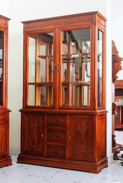 Tủ rượu gỗ tự nhiên đẹp, bền giá rẻ tận xưởng